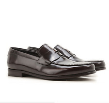 New Men's PRADA Brown Slip On Classic Leather Loafer Size 11 US 12 $650