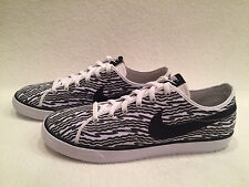 Nike Primo Court Print Canvas Trainers Grey Sneakers Tennis Shoes Mens 12 *NEW*