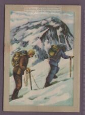 1953 Edmund Hillary and Sherpa Tensing Mount Everest Vintage Trade Ad Card