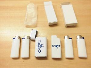 2 x Feuerzeughülle Zigarettenwerbung Camel für Mini-BiCs inkl. 4 Mini-BiCs