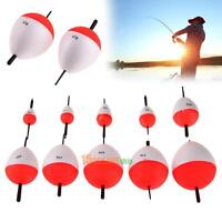10pcs Sea Fishing Round Float Bobbers Set 2g-50g With Sticks Pesca Tackle NEW