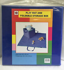New Baby toddler play mat and toy storage box organiser Blue collapsible storage