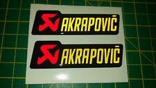 Cúpula Reflectante AKRAPOVIC Adhesivo Calcomanía Para Moto-carrera * Gel Rojo/Amarillo