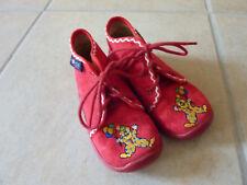 Rohde Hausschuhe für Mädchen Jungen Gr. 24 rot mit Clown