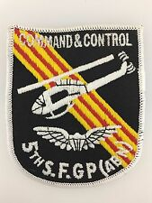 America U.S. Army Vietnam War 5th Special Forces 'Command & Control' cloth patch