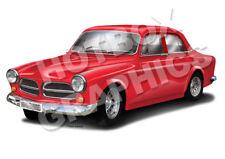 Volvo Amazon Print-Personnalisé illustration de votre voiture