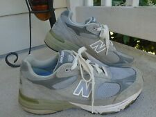 Mens New Balance USA 993 gray suede running shoes sz 9 wide