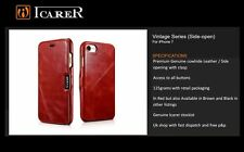 Genuine Leather Icarer Iphone 7 Premium wallet / in Red / UK Icarer stockist