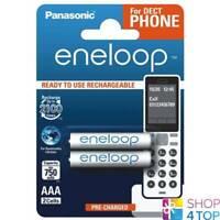 2 PANASONIC ENELOOP RECHARGEABLE AAA HR03 BATTERIEN DECT PHONE 1.2V 750mAh NEU