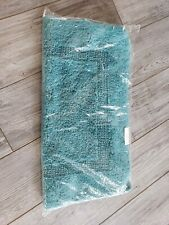 NEW in Bag Abyss & Habidecor Bath Rug Teal Green Greenish Blue 23x23