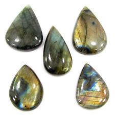 272.15 Ct Natural Labradorite Loose Gemstone Cabochon 5 Pcs Lot Stone - ZS5757