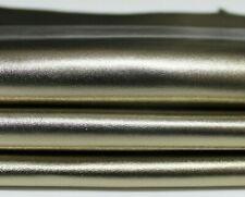 METALLIC GOLD PEWTER smooth Italian Goatskin Goat leather skins 5sqf #A4657