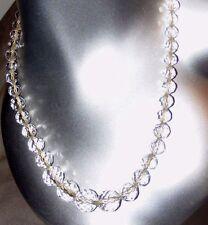 Antico Ceco Cristallo Taglio Vetro Sfaccettato Perline Collana GRADUATI Palla tagliata