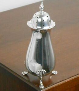 Solid Sterling Silver 150g Sugar Castor Shaker - Birmingham 1905 - Antique