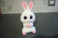 "Ty Beanie Boo - Carrots 8"" white rabbit - bunny - clean - eyes perfect - Rare"