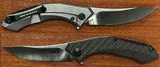 Couteau Zero Tolerance Titane Acier CPM-S35VN Manche Fibre Carbone USA ZT0460