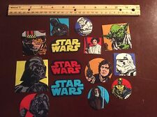 Star Wars Fabric Iron On Appliques style #2. Darth vader Yoda r2d2 c3po AWESOME