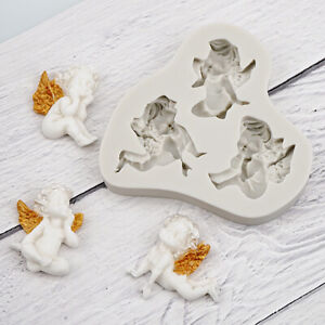 Angel Baby Silicone Fondant Mould Cake Wings Fairy Decorating Baking Topper Mold