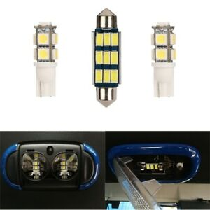 3x White Light Reading LED Bulbs Fit Jeep Wrangler 07-18  JK & Unlimited