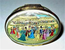Halcyon Days Enamel Box - Royal Enclosure At Ascot Races - Edwardian Times - Mib