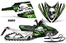 SIKSPAK Arctic Cat M Series Snowmobile Graphic Kit Sled Wrap Decals REBIRTH GRN