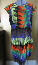 M Missoni Textured Knit Multi Color Cap Sleeeve Dress Size 38 IT, 2 US