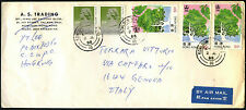 Hong Kong 1988 Commercial Airmail Cover To Italy #C42714