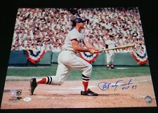 CARL YASTRZEMSKI YAZ SIGNED AUTOGRAPHED BOSTON RED SOX 16x20 PHOTO JSA W/ HOF 89