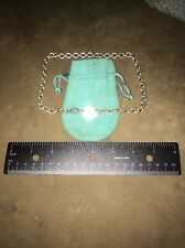 """Tiffany & Co. 925 Silver """"Please Return To"""" 16in Oval Tag Choker Necklace"""