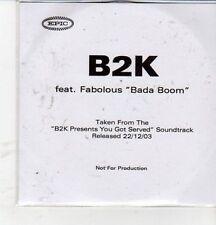(CZ128) B2K ft Fabolous, Bada Boom - 2003 DJ CD