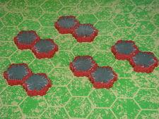 Lava 2-Hex Tile X5 Heroscape Terrain Volcarren Wasteland
