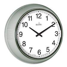 Acctim 27377 Lorene Quartz 240mm Classique Épais Horloge Murale, Gris Argenté