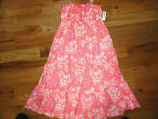 NWT GIRLS OLD NAVY TIERED EASTER SUMMER FLORAL LINED COTTON SUN DRESS TWINS!!