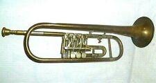 Trompete Messing mit Mundstück alt 53 cm Chr. Reisser