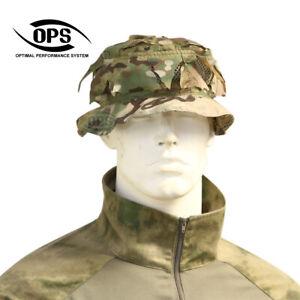 OPS/UR-TACTICAL,REVERSIBLE GHILLIE BOONIE HAT, MULTICAM, A-TACS, PENCOTT, AOR2