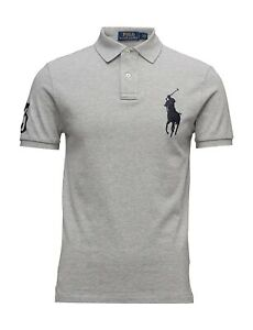 Ralph Lauren Polo Shirt Big Pony #3 BNWT size 1XB Big Size Grey Genuine