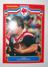 1986 Scanlens Rugby League Trading Card - No.45 - Dave Brown