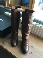 by dune boot slouch dressy tan size 5 leather with box