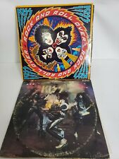 Kiss Alive! Rock and roll over 1st Press LP Vinyl Record Album VG
