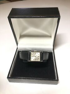 Rare Girard Perregaux Vintage Ladies Wristwatch - Black Calfskin leather strap