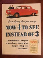 Vintage 1950 Original COLOR Print Ad STUDEBAKER CHAMPION