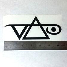 STEVE VAI Vinyl DECAL STICKER BLK/WHT/RED Logo Window Guitar Amp Ibanez 7 String