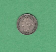 1896 Canadian 5 Cents Silver Coin - Queen Victoria - VF