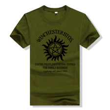 Supernatural Womens T-SHIRT Black S-4XL Cos Short sleeve free shipping hot