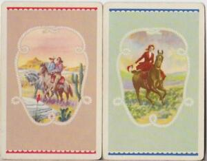 HORSES #L6a    2 Single Swap Playing Cards