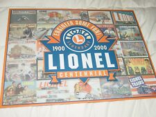 LIONEL LEGENDARY TRAIN TIN SIGN CENTENNIAL 1900 2000 ENGINEER SOME FUN WALL