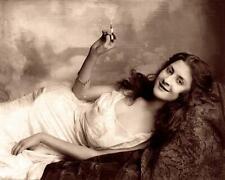 Woman on Lounge Smoking ,Smoke Rings c.1900s - Fitz W. Guerin 8x10 Reprint