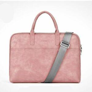 Shoulder Bag Laptop Women PU Leather Scratch-Resistant Waterproof Notebook Work