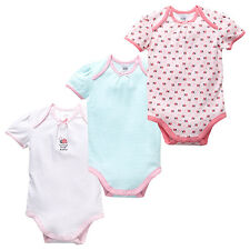 NWT Target Girls Lady Bug Summer Bodysuit Romper x 3 Size 0000 New Baby
