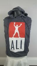 Muhammad Ali  Gray Sleevless Hoodie T shirt.  Size XXL New With Tags!